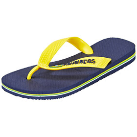 havaianas Brasil Logo Flips Men navy blue/citrus yellow